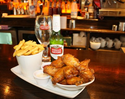 Bottle of Stella, Chicken Wings and Chips on Tuesday